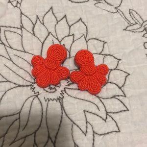 J. Crew beaded flutter earrings (bright hibiscus)